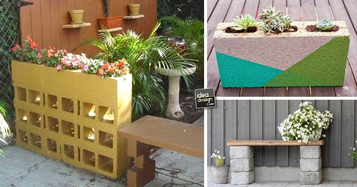 Decorare il giardino con dei blocchi di cemento 20 idee - Casa con giardino pisa ...
