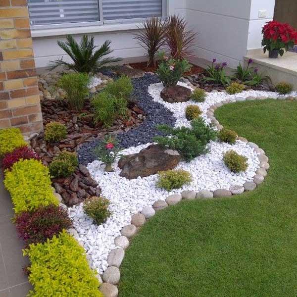 Ideen fur den garten kreativ  Dekorieren Sie mit Steinen im Garten! 20 kreative Ideen inspirieren...