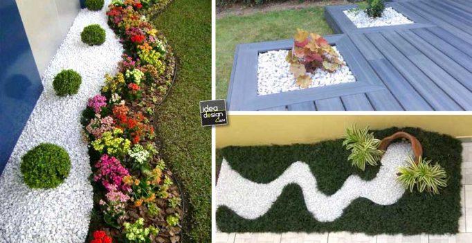 Decorare con i sassolini in giardino 20 idee creative a for Decorazioni giardino aiuole