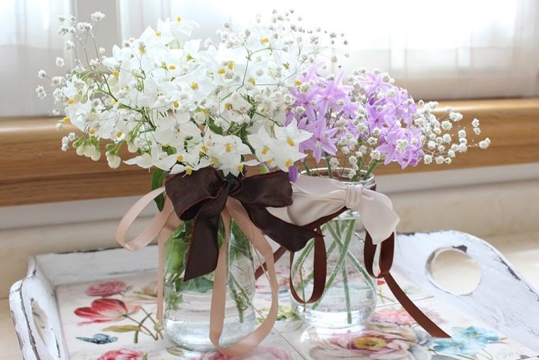 Decorazioni primaverili con barattoli di vetro riciclati for Fai da te decorazioni casa