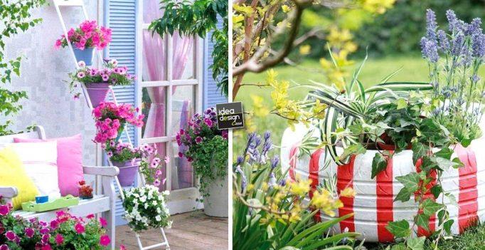 Fai da te per decorare il giardino 16 idee lasciatevi ispirare - Decorazioni casa fai da te riciclo ...