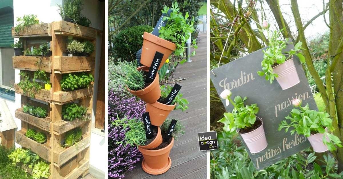 Creare un angolo erbe aromatiche originale in giardino! 20 idee per  ispirarvi\u2026