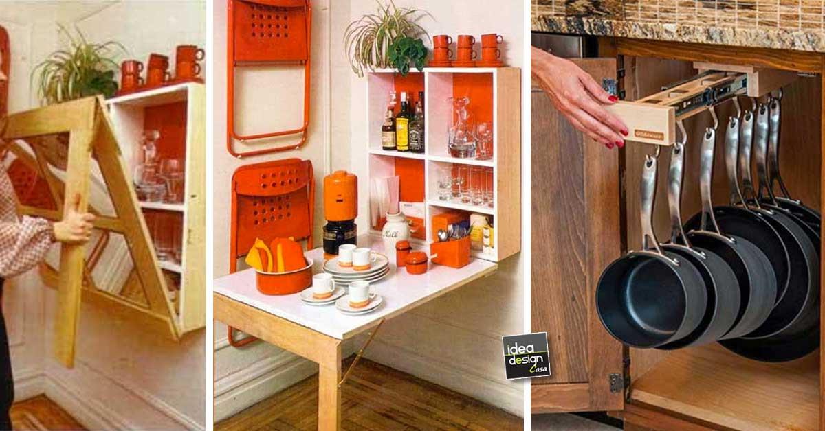 Accessori Salvaspazio Cucina.Guadagnare Spazio In Cucina 20 Accessori Salvaspazio Per