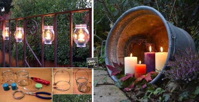 Idee riciclo per giardino idea creativa della casa e - Illuminare il giardino ...