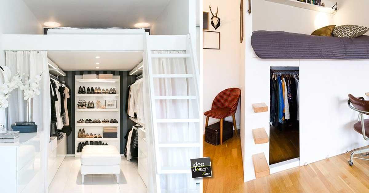 Un dressing sotto un letto a soppalco 12 esempi a cui - Idea per la casa ...