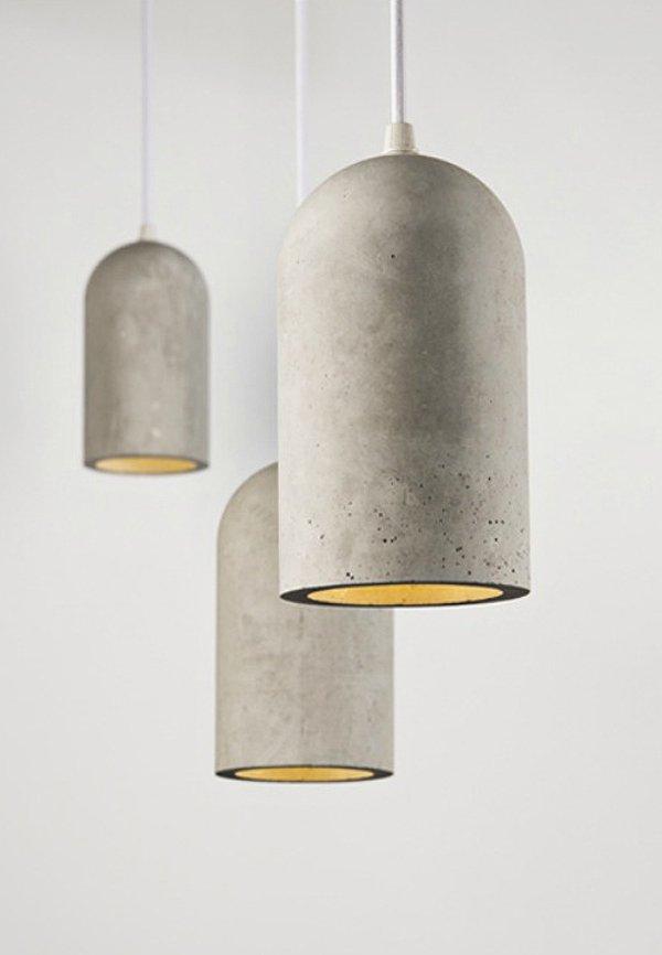 Lampade Design realizzati con il cemento