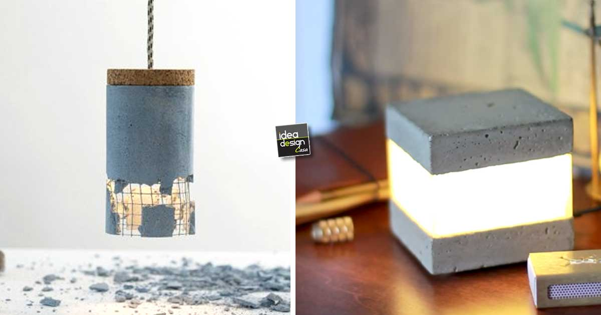 12 Lampade Design realizzate con il cemento... più facile di quello che potet...