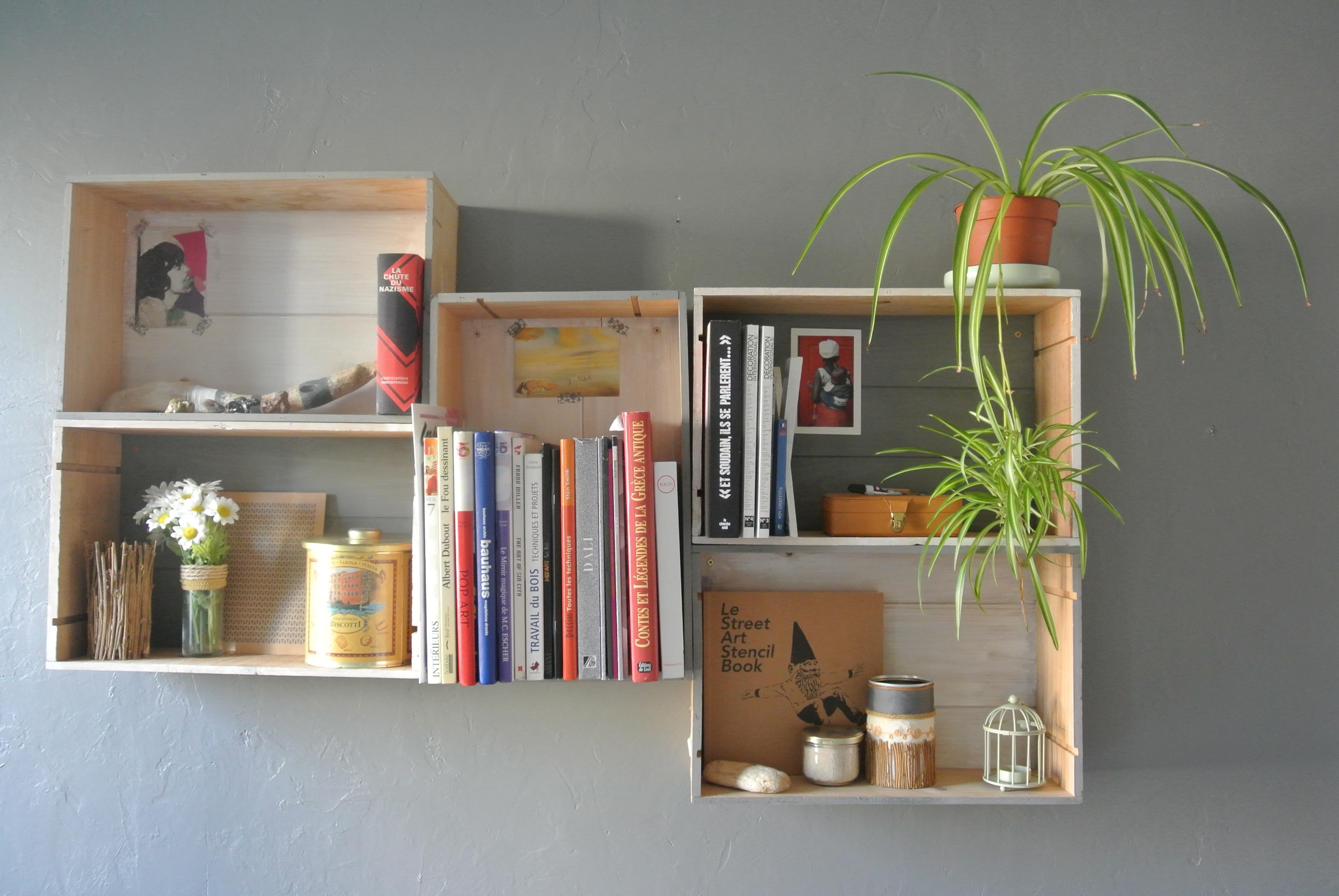 Ripiani In Legno Fai Da Te : Mensole fai da te con cassette di legno!20 idee per ispirarvi