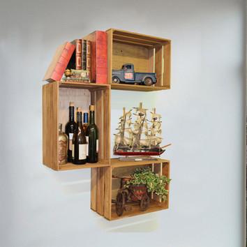 Mensole fai da te con cassette di legno 20 idee per ispirarvi for Piccole mensole