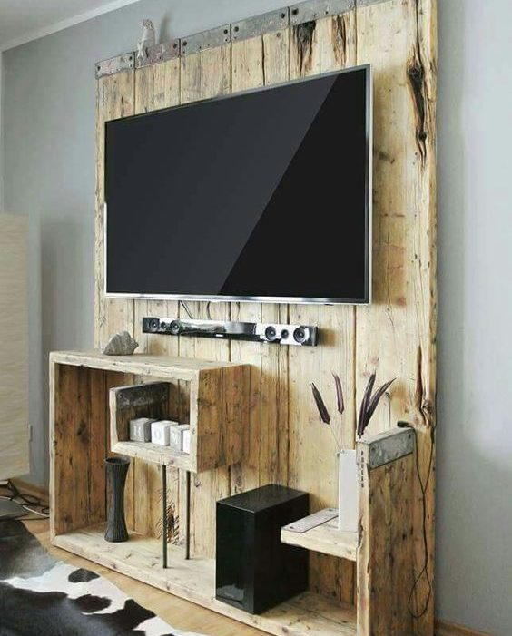 diy tv furniture made with pallets! 20 ideas ... get inspired! - Mobili Pallet Interior Design