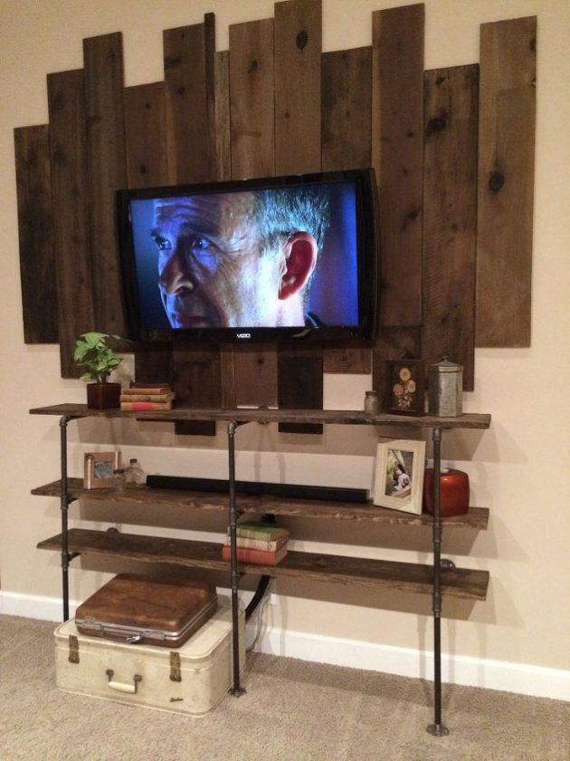 Mobili per TV fai da te realizzati con bancali