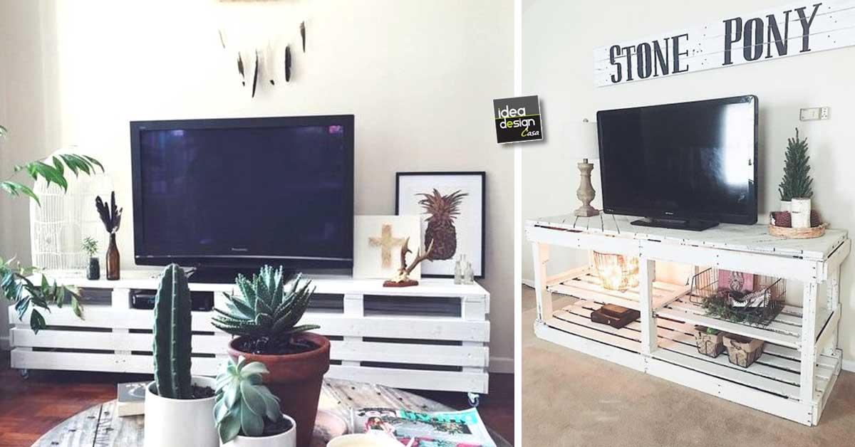 Mobili per tv fai da te realizzati con bancali 20 idee for Idee arredamento soggiorno fai da te