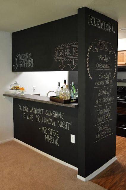 Decorare una parete con la pittura effetto lavagna
