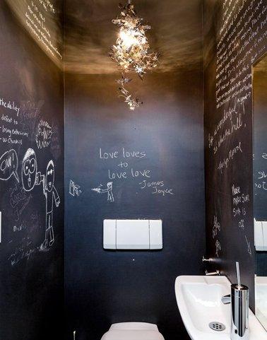 Decorare una parete con la pittura effetto lavagna 20 - Decorare una parete di casa ...