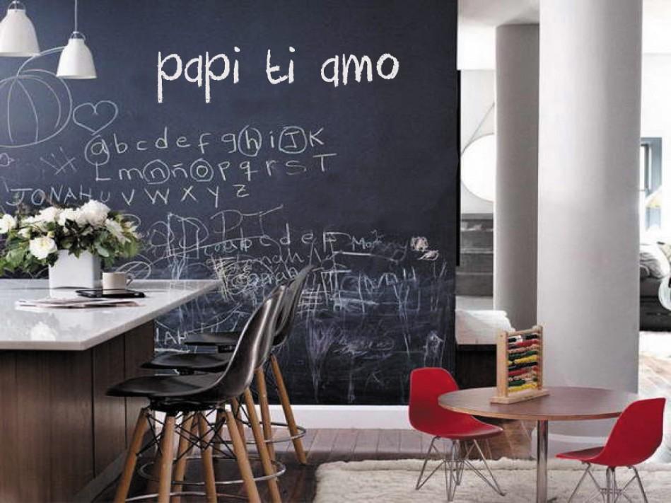 Decorare una parete con la pittura effetto lavagna 20 for Idee pittura casa