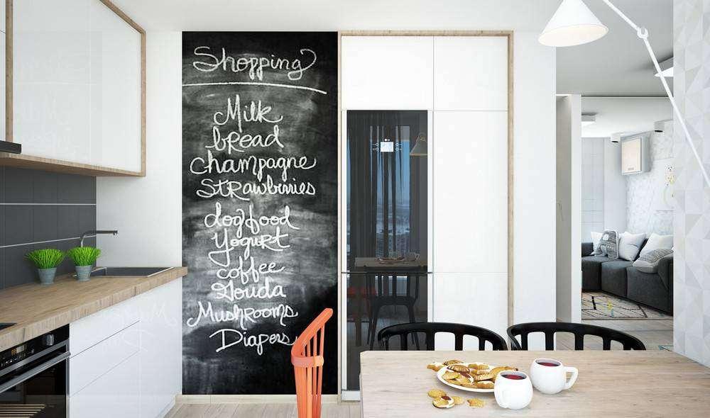 Decorare una parete con la pittura effetto lavagna 20 - Lavagna da cucina ...
