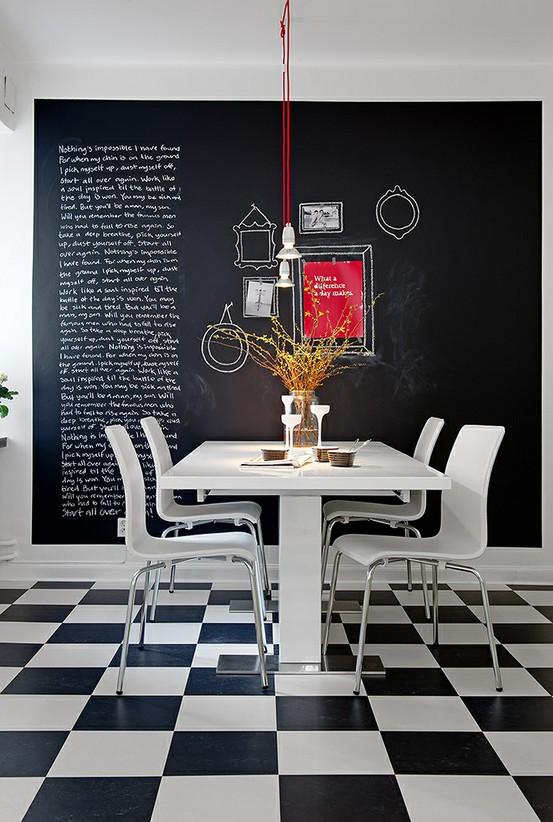 Favoloso Decorare una parete con la pittura effetto lavagna! 20 esempi a  RH98