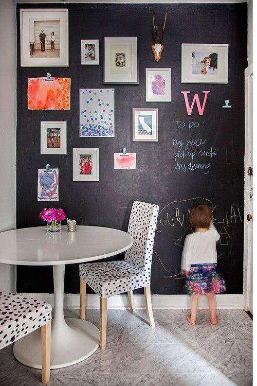 Amato Decorare una parete con la pittura effetto lavagna! 20 esempi a  SR06