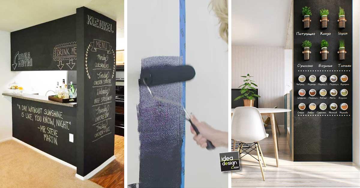 Parete lavagna arredamento idee di design per la casa - Parete lavagna arredamento ...
