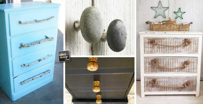 Maniglie e pomelli fai da te per mobili ecco 20 idee for Maniglie mobili bagno