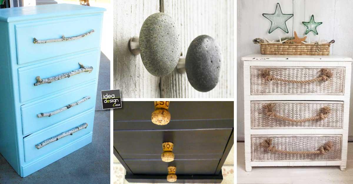 Maniglie e pomelli fai da te per mobili ecco 20 idee for Idee design fai da te