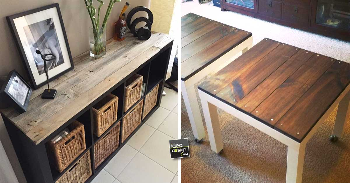 Dare un nuovo aspetto ad un mobile ikea usando i bancali for Ikea ivar mobile