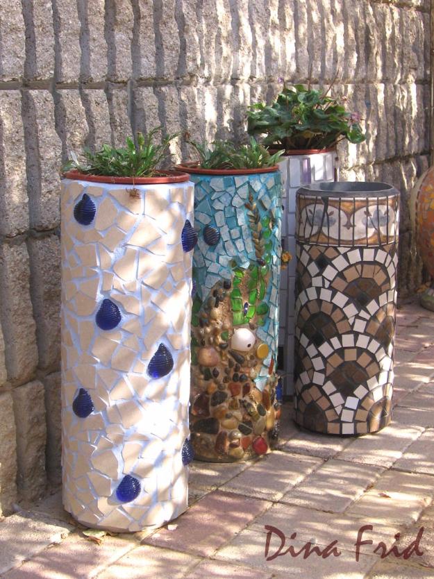 decorazioni fai da te recuperando le ceramiche rotte
