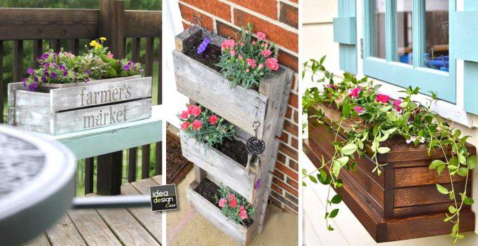 Realizzare un vaso di fiori con i bancali 20 bellissime - Arredamento esterno bancali ...