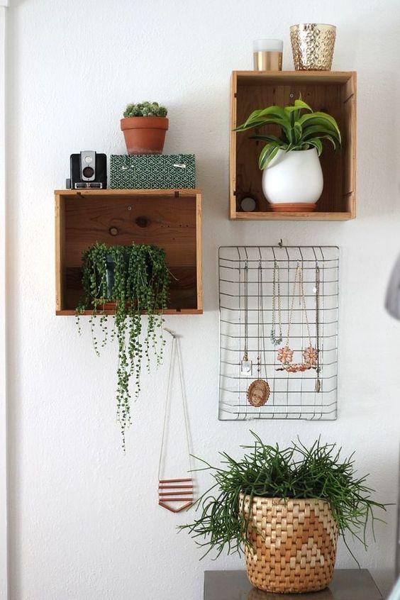 mensole design fai da te con le cassette di legno