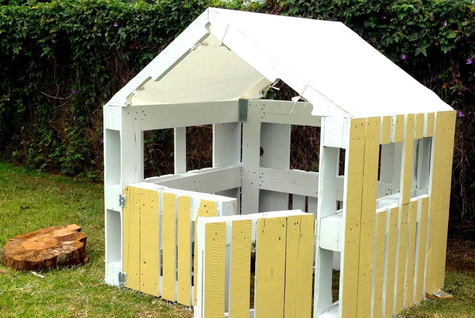 Fai da te con i pallet arredi per bambini fai da te con for Casas madera ninos jardin