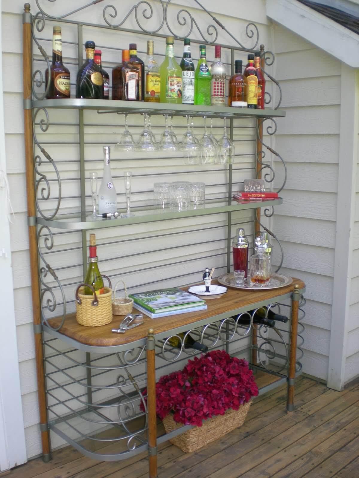 Mini bar fai da te da giardino