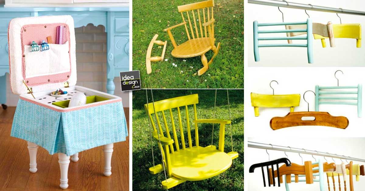 10 idee creative per trasformare vecchie sedie rotte in