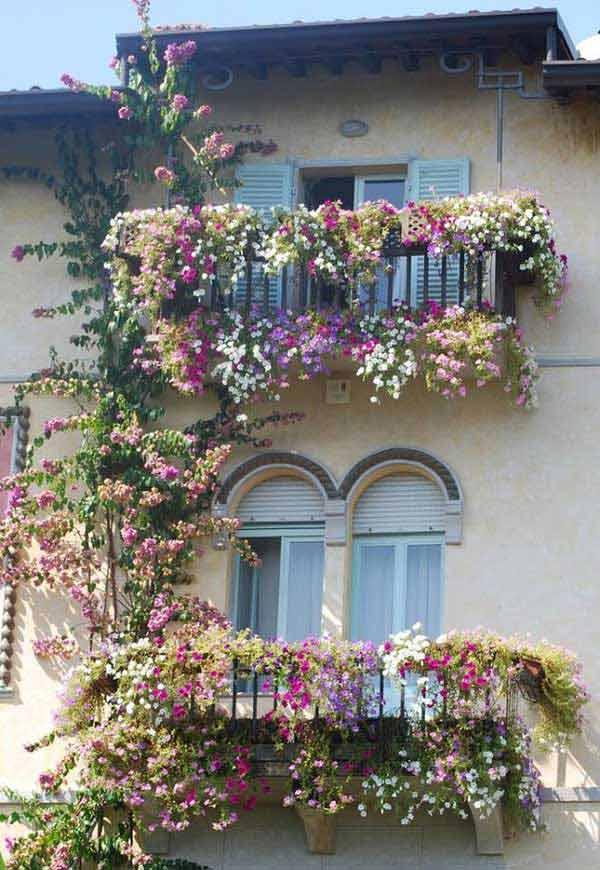 Famoso Decorare il balcone con i fiori! 20 bellissimi esempi per ispirarvi CE59
