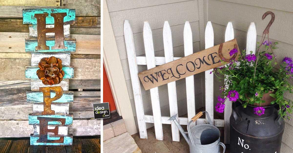 Decorare l 39 ingresso di casa con il fai da te ecco 20 idee - Idee creative per la casa ...