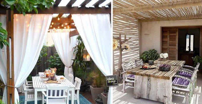 Angolo pranzo in giardino ecco 20 bellissimi esempi a cui for Zona pranzo design