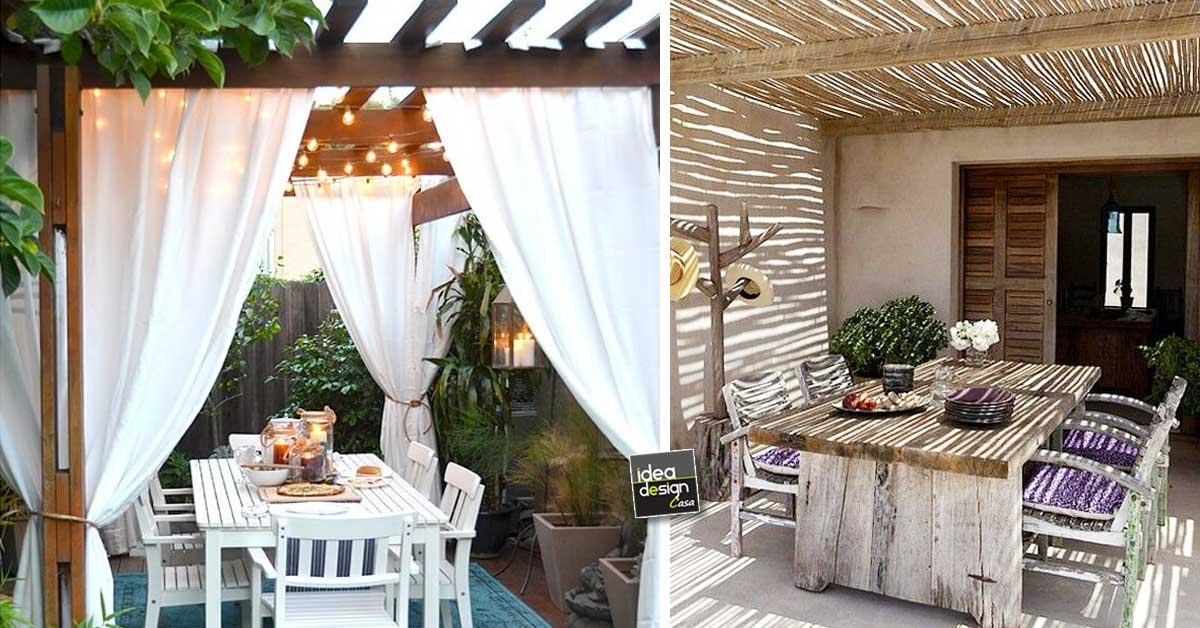 Angolo pranzo in giardino ecco 20 bellissimi esempi a cui for Esempi giardino