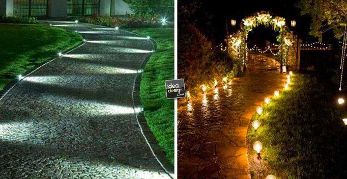 Illuminare il vialetto in giardino 20 bellissime idee a - Idee per illuminare casa ...