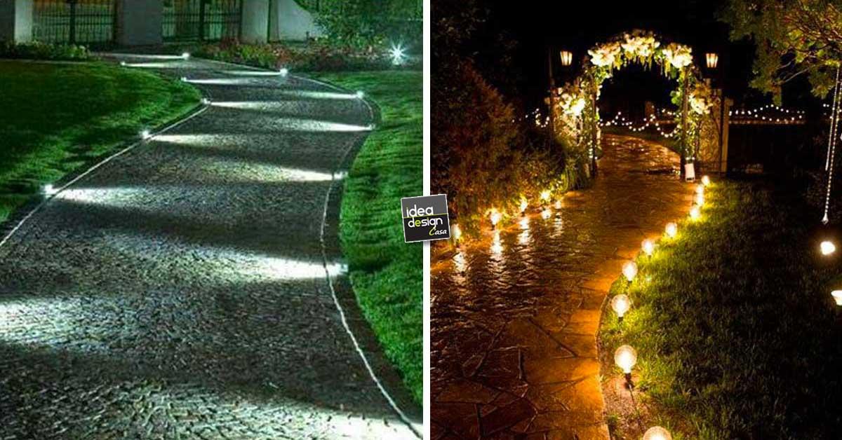 Illuminare il vialetto in giardino 20 bellissime idee a - Foto case con giardino ...