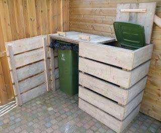 sistemare i bidoni della spazzatura in giardino 20 idee da vedere. Black Bedroom Furniture Sets. Home Design Ideas