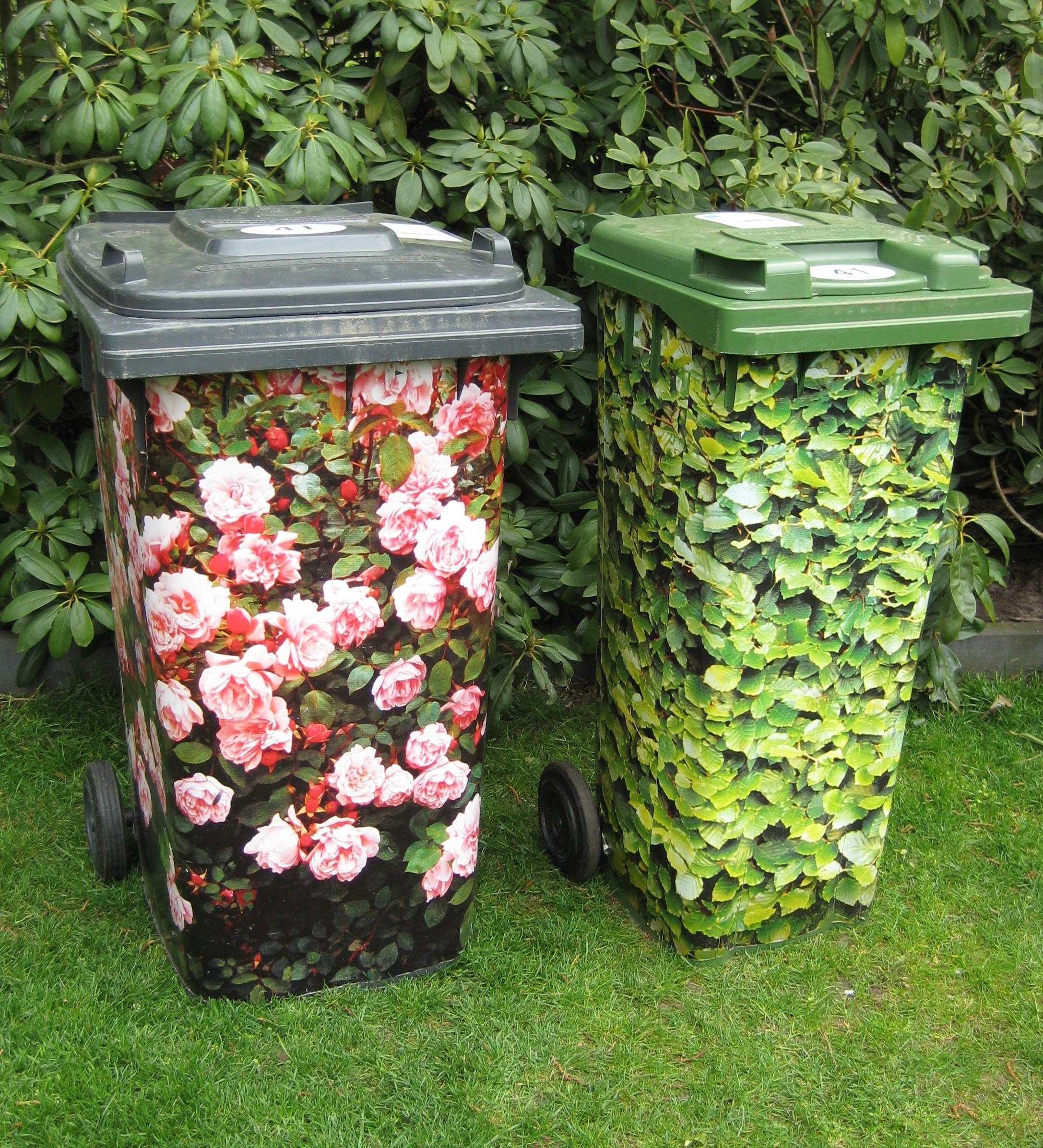 Sistemare i bidoni della spazzatura in giardino! 20 idee da vedere...
