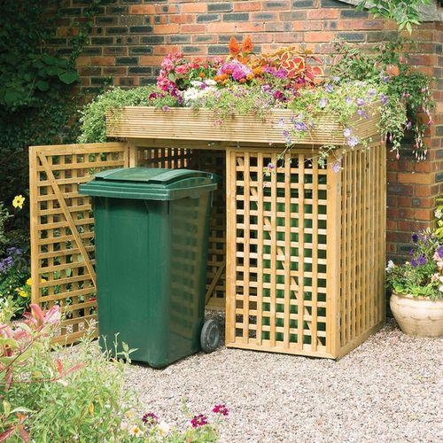 Sistemare i bidoni della spazzatura in giardino 20 idee - Nascondere griglia giardino ...