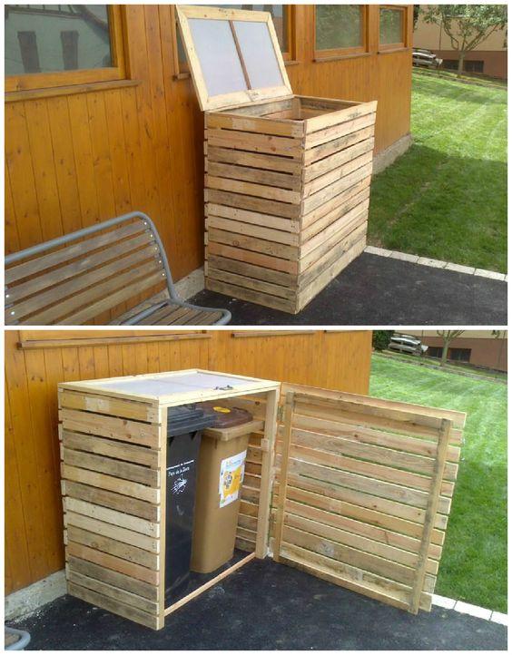 Eccezionale Sistemare i bidoni della spazzatura in giardino! 19 idee da vedere... MN69