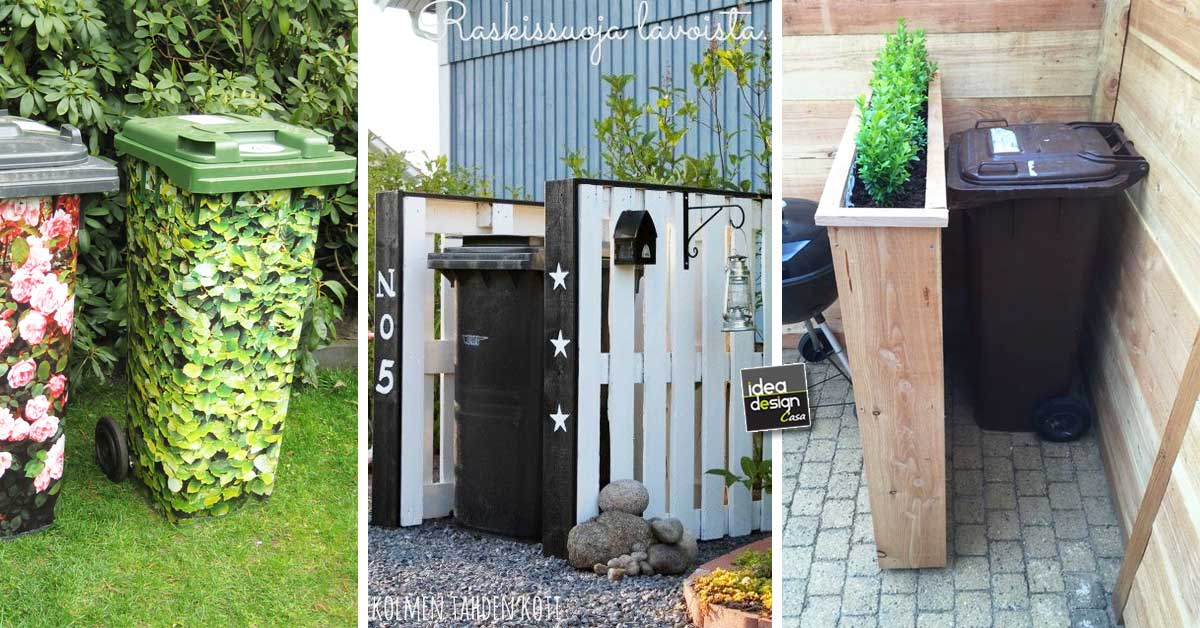 Super Sistemare i bidoni della spazzatura in giardino! 19 idee da vedere... YG96