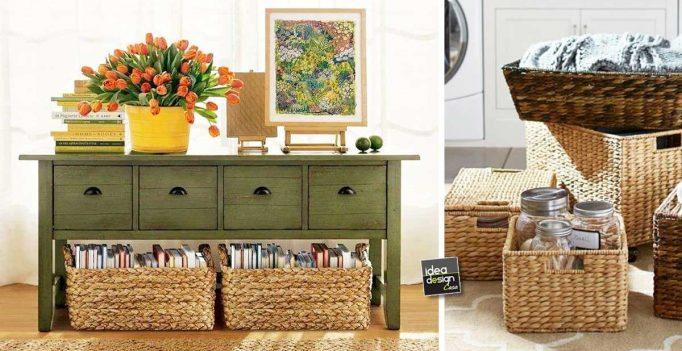 Credenza Con Cestini : Organizzare casa con i cestini ecco idee per sistemare