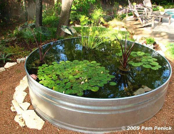 Piccolo laghetto in un vaso per decorare il giardino 20 - Giardino zen piccolo ...