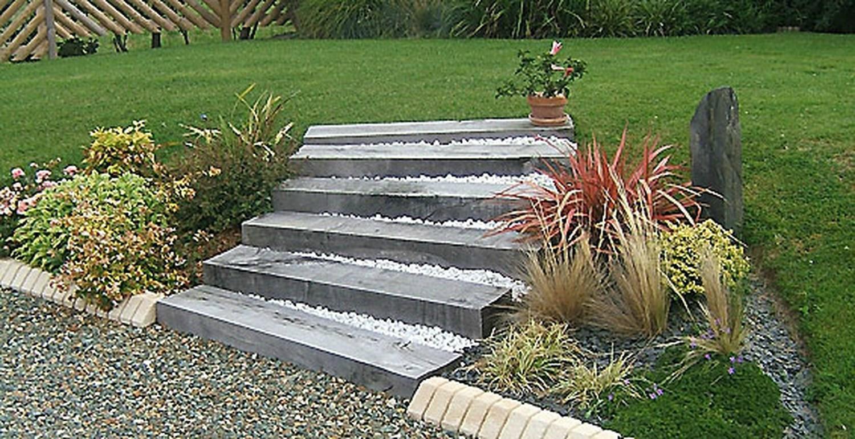 Realizzare scalini in giardino 20 soluzioni da vedere - Pedana giardino fai da te ...
