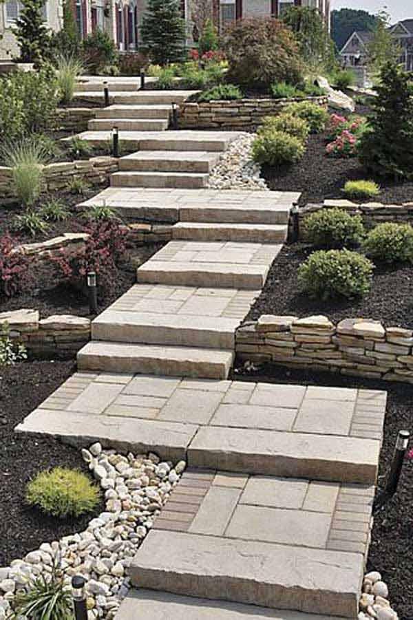 Realizzare scalini in giardino 20 soluzioni da vedere - Scale da giardino ...
