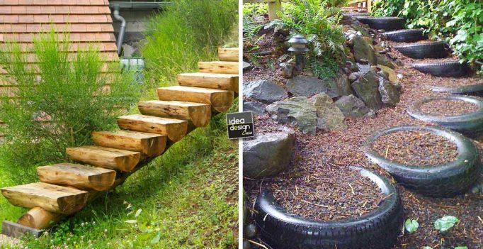 Realizzare scalini in giardino 20 soluzioni da vedere - Aiuole giardino fai da te ...