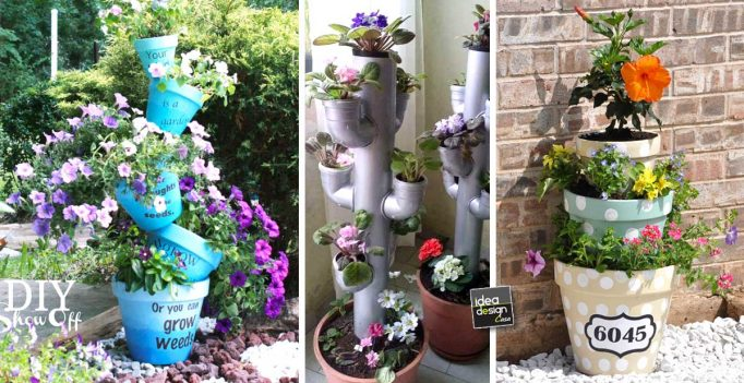 Creare Una Torre Di Fiori Originale In Giardino! 20 Idee Creative A Cui  Ispirarsiu2026
