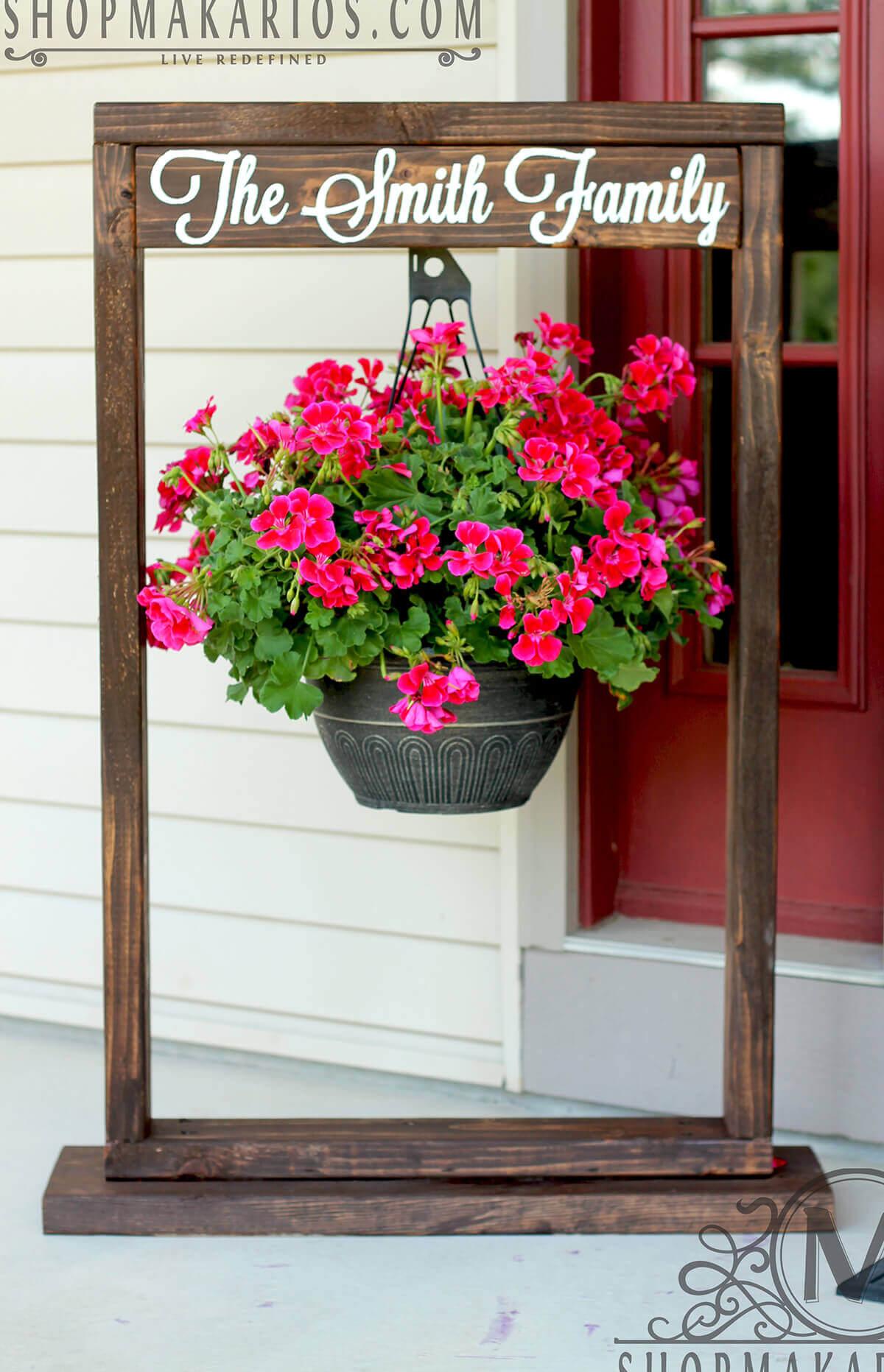 Piante sospese per decorare il giardino